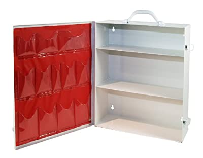 Medique Products First Aid Cabinet with Pockets, Medical Storage with 3 Shelves - 712MTM by Medique