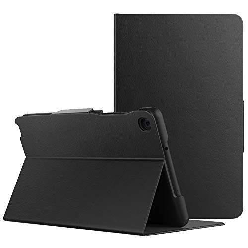 MoKo Case Fit Samsung Galaxy Tab A with S pen 8.0 2019, Premium Light Weight Stand Folio Shock Proof Cover Case for Galaxy Tab A with S pen 8.0 SM-P200 (Wi-Fi)/SM-P205 (LTE) 2019 Tablet - Black