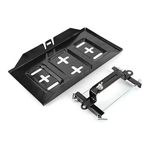Soporte de la bandeja de la batería, almacenamiento de metal Soporte de la batería Soporte de la bandeja Soporte de sujeción Kit de soporte de la abrazadera Accesorio para el automóvil(19cm)