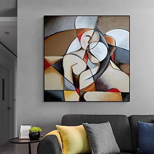 RuiChuangKeJi Nordic Stil 40x40cm kein Rahmen Berühmte Picasso Moderne abstrakte Traumfrau Malerei Frau HD Leinwand Wandkunst Poster für Wohnzimmer Home Decor