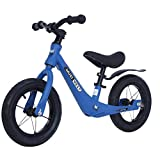 QSYY Bicicleta De Equilibrio para Niños De 12 Pulgadas, Bicicleta De Entrenamiento para Niños Pequeños para Niños De 18 Meses, 2, 3, 4 Y 5 Años, Bicicleta Sin Pedales para Niños Pequeños,Azul