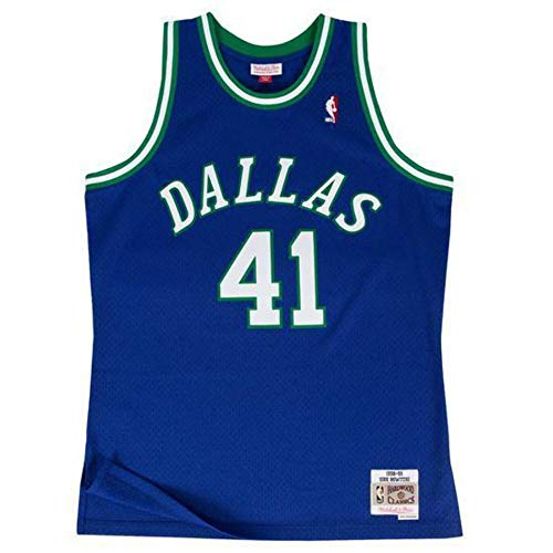 Mitchell & Ness Herren Shirt Dallas Mavericks Royalblau S