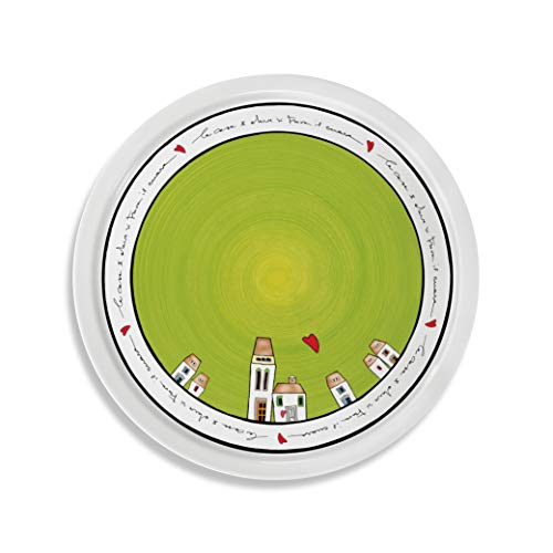 EGAN, Piatto Pizza Le Casette Verde D.30