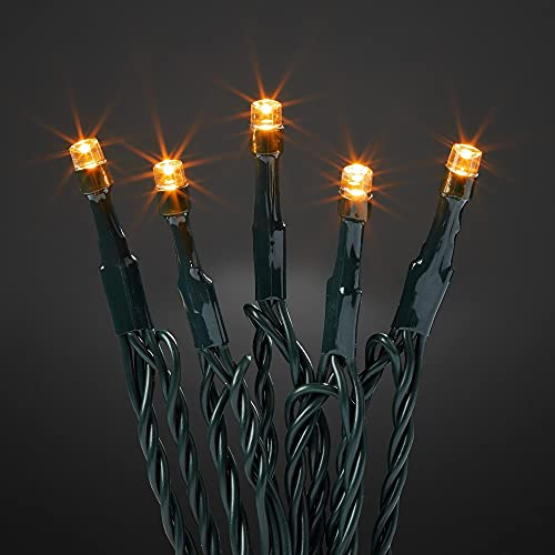 Hellum Lichterkette Beleuchtung Deko 40 LED bernstein 10 m Zuleitung 3,9 m Lichtlänge Außen Outdoor Timer Garten Party 576580