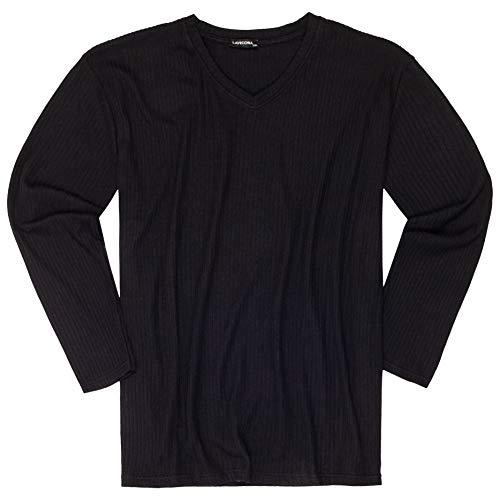 Lavecchia Plusstorlek stickad tröja för män med V-ringning