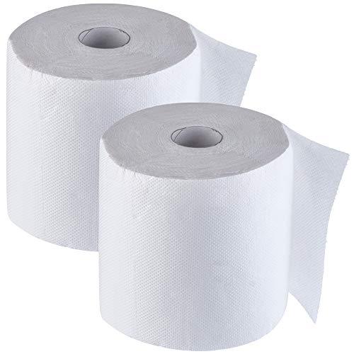 KADAX Küchenrolle, 2-lagig, Küchenpapier aus 100% Zellstoff, Papiertuch, geprägt, Küchentuch, Haushaltsrolle für Reinigung, Toilettenpapier, Haushaltspapier, weiß (2, 60 m)