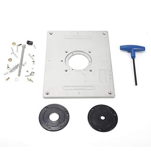 Aluminium Frästisch Einsatzplatte Montageplatte Grundplatte Befestigungsplatte 235 x 300 mm x 9,3 mm
