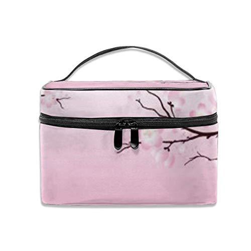 Rose Cherry Blossoms Voyage Maquillage Train Case Maquillage Cosmétique Cas Organisateur Portable Artiste Sac De Rangement