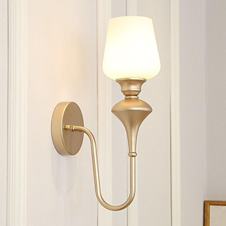 Modern LED Wandleuchte Retro-Garten mediterranes warmes Licht des Nachttischwandlampenwohnzimmerschlafzimmers Vintage Retro Café Loft Bar Flurlampe, Wandlampe Upaus Aluminium für Flur Korridor.
