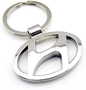 Motoway Hyundai Logo Metallic Car & Bike Key Chain
