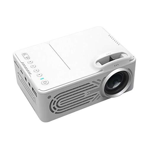HEN'GMF Mini Micro Proyector Portátil de Entretenimiento en el Hogar Compatible con el Proyector de Conexión de Teléfono Móvil HD 1080P Color (Blanco/Negro),Blanco