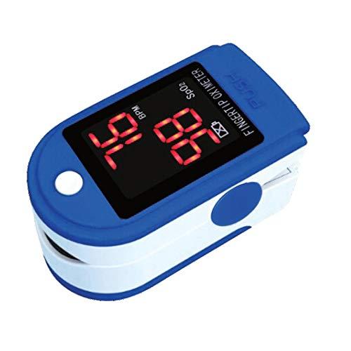 @tec Pulsoximeter für Finger, LED, Oximeter, Messgerät für Sauerstoffsättigung Blut & Puls - Fingerpulsoximeter - Sauerstoffmessgerät, Spo2 Sauerstoff Pulsmessgerät für Kinder oder Erwachsene DE