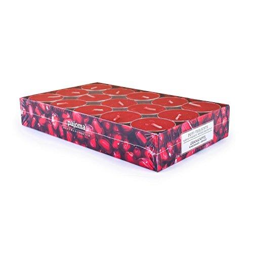 pajoma Duft Teelichter 30er Set Weihnachten Geschenk Set Lange Brenndauer Duft wählbar (Granatapfel)