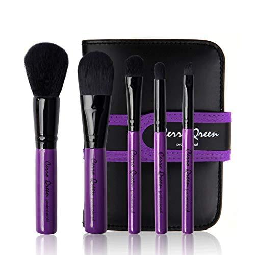 Pinceaux Maquillage 4Pcs Maquillage Beauté Outils Ombre À Paupières Fondation Brush Set (Violet/Rose Rouge) (Couleur : Purple)