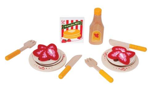 Hape - E3113 - Jeu d'Imitation en Bois - Cuisine - Pancakes