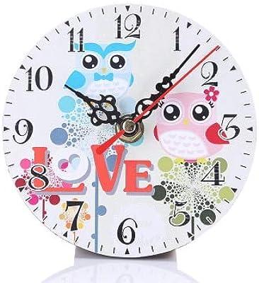 Harlica Aimecor Cute Owl Series 11.5cm Wall Clocks Round Wall Watches relojes decoracion pared 1PC