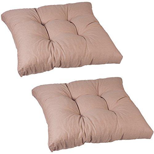 beo enkel kussen LKS AU04 Lounge zitkussen, ongeveer 60 x 60 cm, 13 cm dik, 2-pack, zand