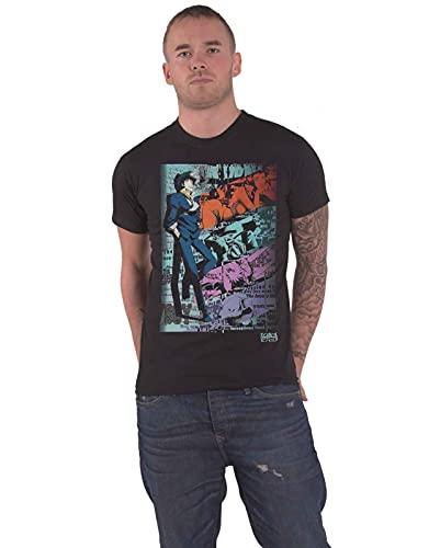 Indiego Cowboy Bebop Camiseta Hombre Spike Spiegel Sentado Algodón Negro - L
