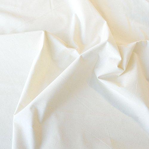 TOLKO Baumwollstoffe Meterware Nessel ROH-Baumwolle naturfarben als Dekostoff (Breite: 155 cm   leicht)