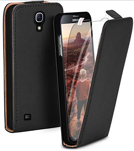 MoEx® Premium Case + Lámina de protección para Samsung Galaxy Mega 6.3 | Funda con Solapa + Lámina de protección para el teléfono móvil, Noir