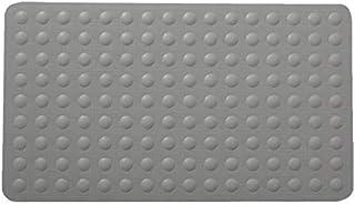 バスルームマット 排水孔チャックスリップ風呂マットグレーと一緒にお風呂とシャワーマットフタのない材料の専門洗濯機 バスルームの床の滑り止めと速乾性 (色 : グレー, サイズ : 40X70CM)