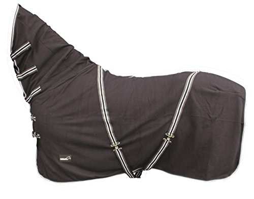 CATAGO Fleecedecke mit Halsteil - 155 cm - schwarz