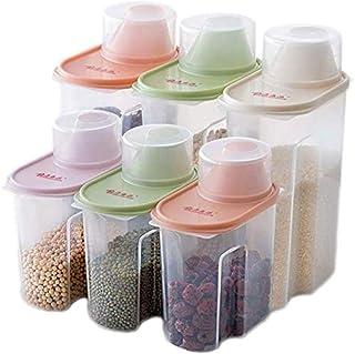 Spice Jar storage jar Whole grain storage tank Plastic storage box kitchen food storage storage box Dry goods sealed can (...