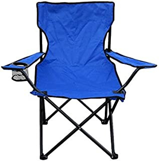 US Fast Shipment Quaanti Camping Chair,Folding Portable Lawn Chair with Padded Armrest Cup Holder and Carrying Storage Bag,Beach Camping Hiking Fishing Outdoor Lounge Chair Seat (Blue)