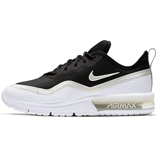 Nike Air Max Sequent 4.5 PRM Womens Running Trainers BQ8825 Sneakers Shoes (UK 5.5 US 8 EU 39, Black Platinum Tint White 001)