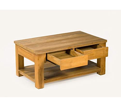 Table Basse en Teck Massif Rectangle 100 cm x 60 cm