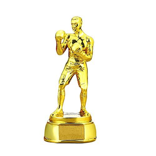 Trofeo, trofeo de boxeo, trofeo de competición de artes marciales, trofeo de boxeo, regalo conmemorativo, 22 cm de alto-gold