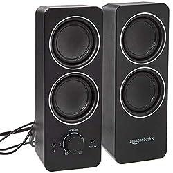cheap External External PC Multimedia Speaker with Amazon Basics AC Power