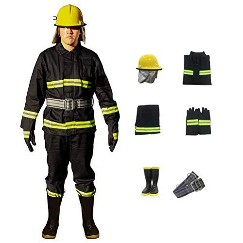 PLEASUR Fire Safety Guard pak vuurvaste kleding brandweerman beschermende set Navy blauw