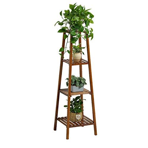 Étagère à Chaussures étagère à Fleurs étagère à Fleurs étagère à Plantes échelle présentoir de Fleurs antiseptique Bambou intérieur et extérieur 4 Taille de Plancher 37x37x120 Cm