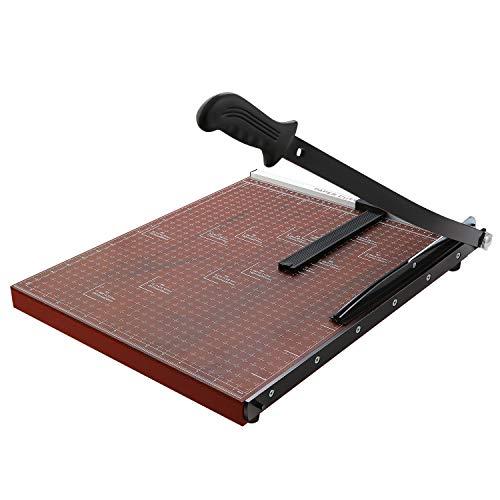 Profi Papierschneider A3 Fotoschneider Hebelschneider Papierschneidemaschine Schneidegerät Bindegerät für Schule und Büro, Schnittleistung ca. 12 Blätter