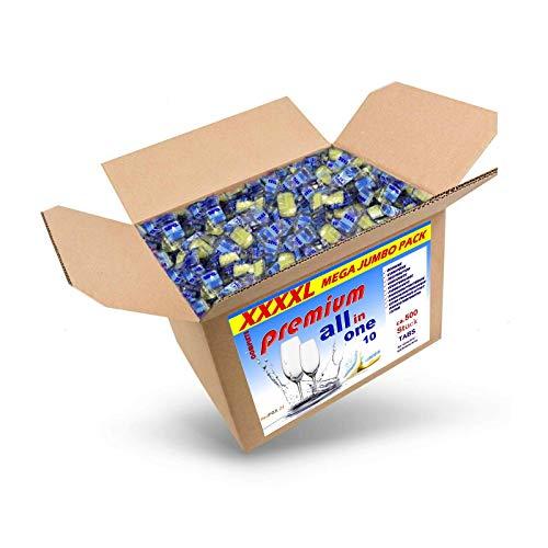 RedFOX24 Spülmaschinen Tabs - Geschirrspültabs - Spülmaschinenreiniger - mit 10 verschiedenen Funktionen - in einem 10 KG Karton erhältlich