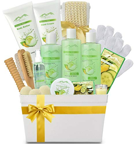Spa Gift Baskets Beauty Gift Basket - Spa Basket, Spa Kit Bed and Bath Body Works Gift Baskets for Women! Bath Gift Set Bubble Bath Basket Body Lotion Gift Set for Holidays (Cucumber Melon) -  QUANZHOU BESTHOPE HOUSEHOLD PRODUCTS CO.,LTD, PN107
