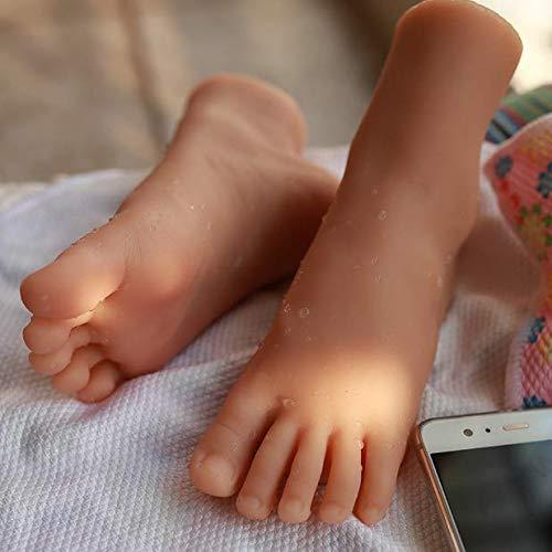 BULK EIN Paar LifeSize 27 Größe lebensechte Mädchen Fuß Schaufensterpuppe Silikon gefüllt Teens Fuß Modell für Schuh Socke Sandale Display Kunst Skizze Fotografie Requisiten,Onepair