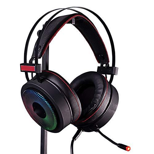 XIANG Gaming Headset, 7.1 Stereo Sound Gaming Headset met Kleurrijke LED-verlichting, USB-poort voor PS4