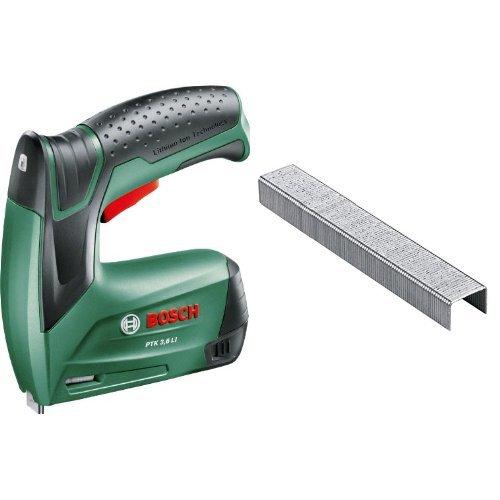 Bosch - PTK 3,6 LI – Grapadora + 2 609 255 820 - Grapa o 53 (pack de 1000)