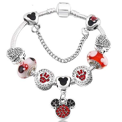 Pulsera de abalorios de Disney estilo Pandora con cristales de Swarovski* de...