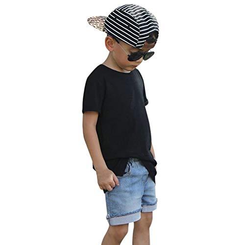 Ropa Bebé Niño Verano 0-3 Años, K-youth Conjunto Bebe Niño Ropa Bebe Recien Nacido Niño Camiseta de Manga Corta para Niños Deportes T-Shirt Tops y Vaquero Pantalones Cortos Conjuntos de Ropa para Niño