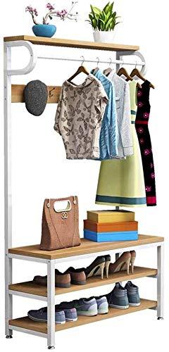 combinatie Verticale kapstok Met schoenenrek Kast hangers Moderne eenvoud Slaapkamer Foyer Entree A 60 * 34 * 175cm
