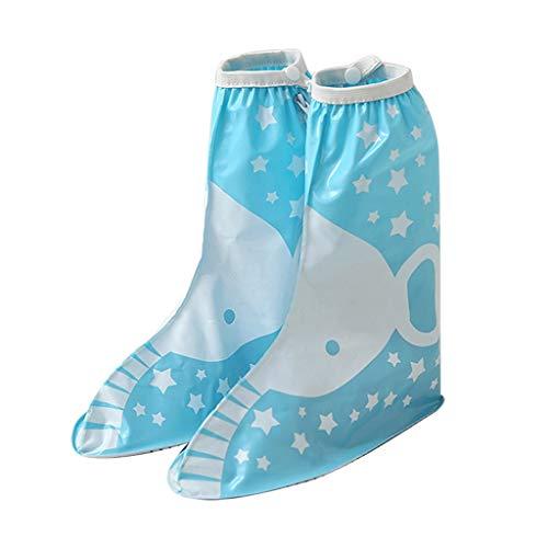 Duanguoyan Regenstiefel- Kinder Regen Stiefel Dicke Rutschfeste Tragen Männer und Frauen Baby Grundschule Kinder Füße wasserdichte Regen Stiefel (Farbe : Blau, größe : XL)