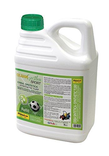 Chimiver Detergente concentrato per la Pulizia di campi Sportivi in Erba Sintetica Clean Garden Sport CONCENTRATO 5L | Tanica da 5L.