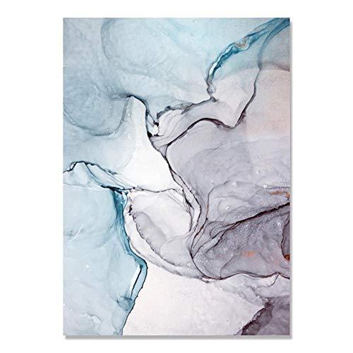 xcycwyf Pink Marble Poster und Prints Grau Roségold Canva Art Painting Ampersand Diamond Wall Art Moderne Wandbilder für Wohnzimmer 50x70cm