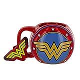 DC Comics Taza Escudo Wonder Woman, cerámica, Multicolor, 12 x 14 x 10 cm