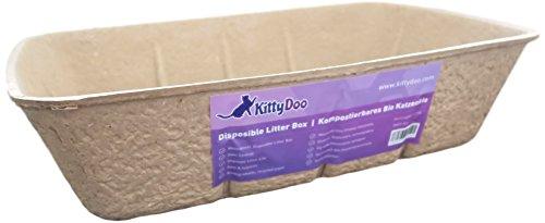 KittyDoo Arenero para Gatos Inodoro, Bandeja desechable, respetuosa con el Medio Ambiente Eco-Friendly - Aseo Gatos (1 Unidad)