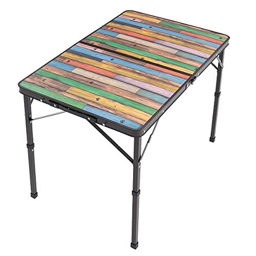 ロゴス Old Wooden 丸洗いダイニングテーブル 9060