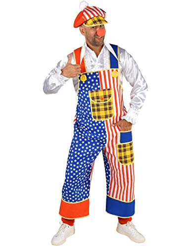 MAGIC BY FREDDYS Latzhose Clown USA Herren Größe: L/XL